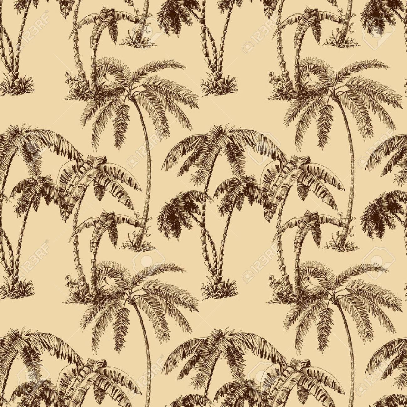 Palm trees seamless pattern - 43124910