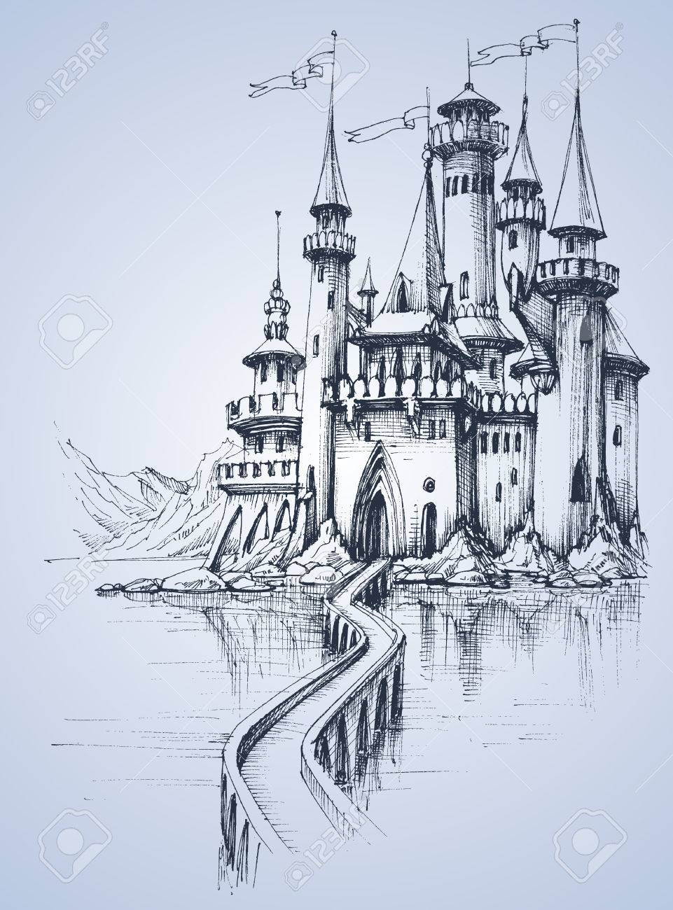 A beautiful palace and a bridge over the river - 51327252