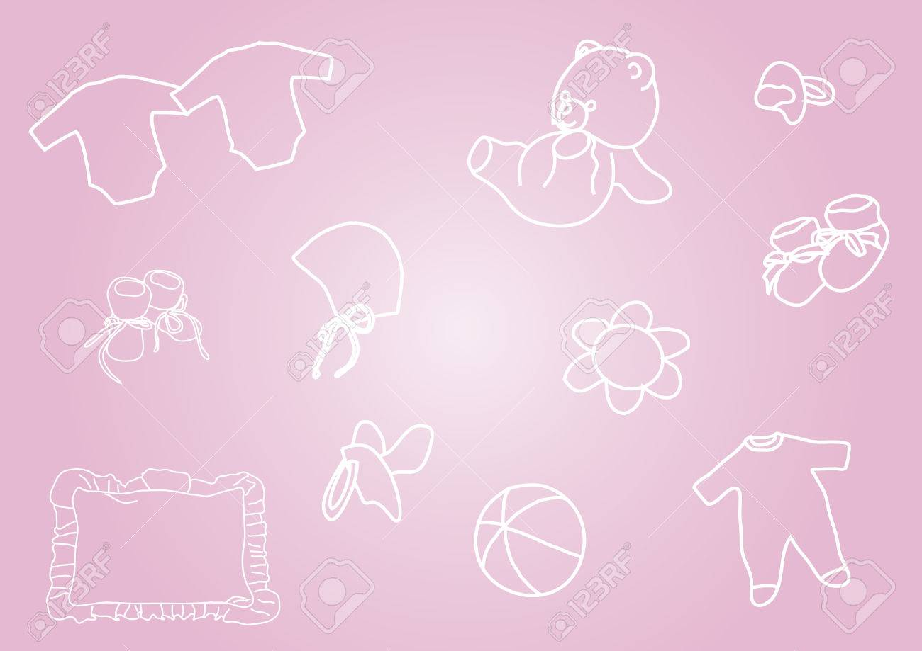 Baby - it is a girl Stock Vector - 9062433