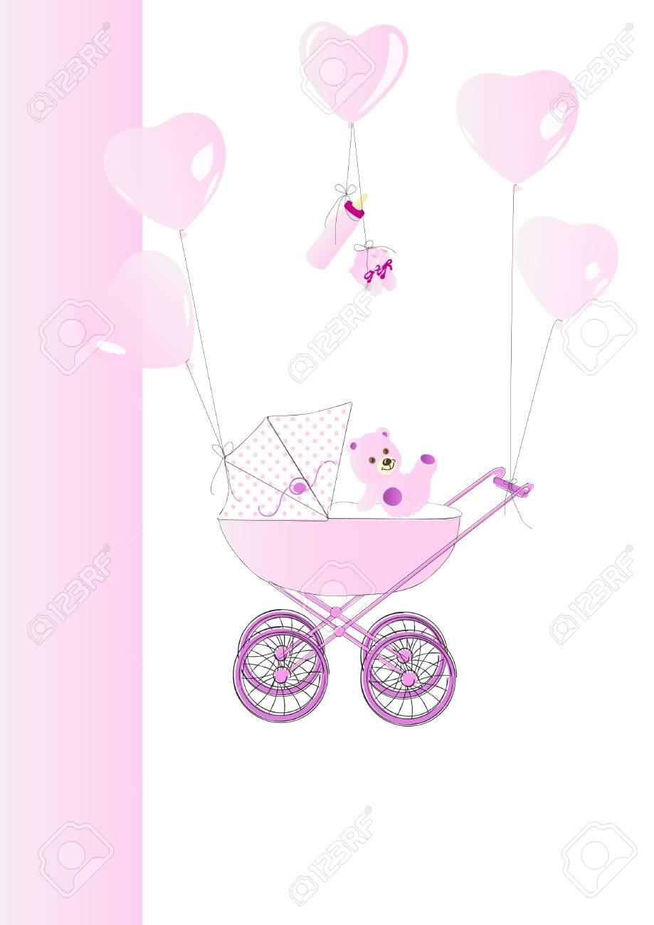 Babycard pink Stock Vector - 12137304