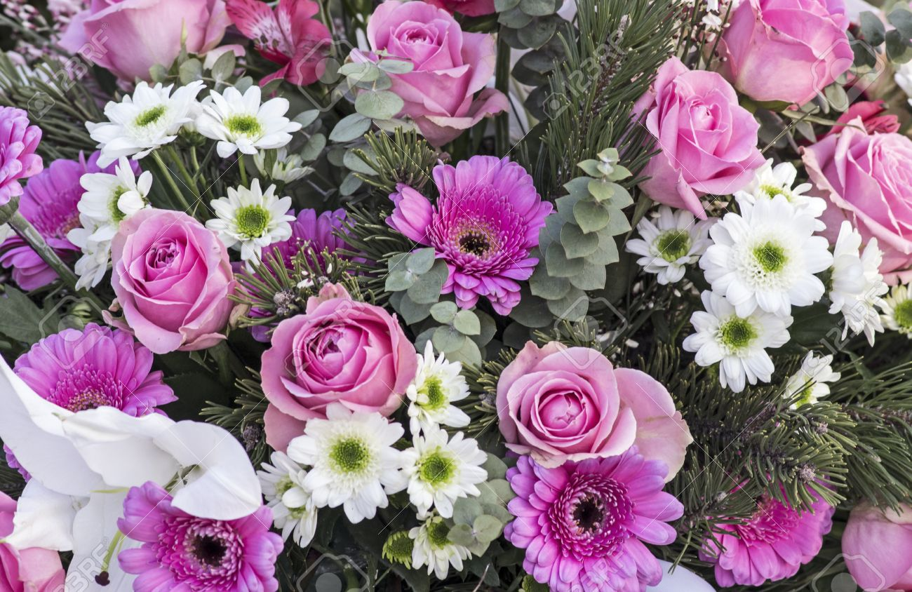 Bunch Of Flowers In Pink Stock Photo Picture And Royalty Free Image
