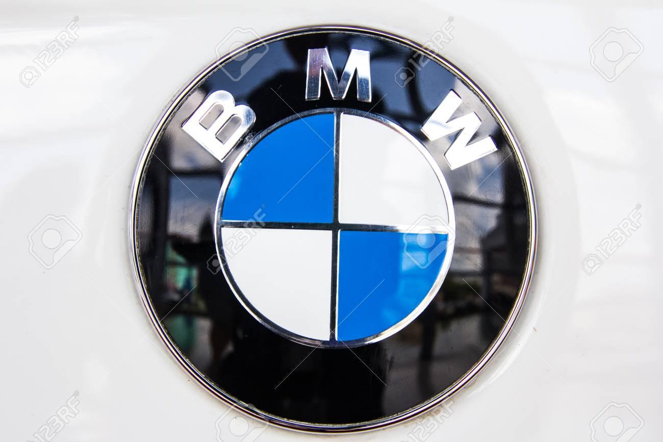 Hatyai Thailand April 02 2016 Logo Of The Brand Bmw On