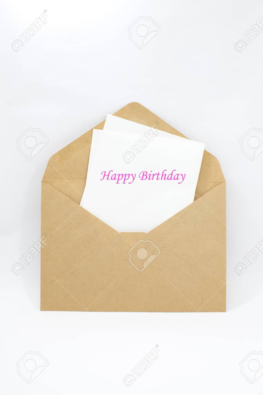 Happy birthday note Stock Photo - 16748324