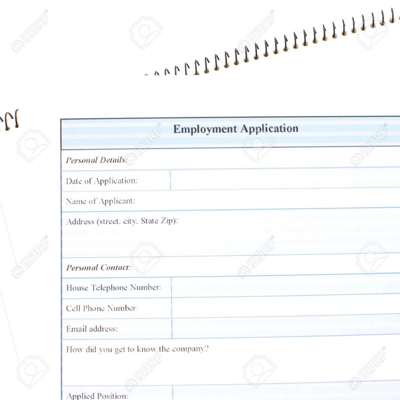 Antragsformular Konzept Für Bewerbung Um Einen Job Lizenzfreie Fotos ...