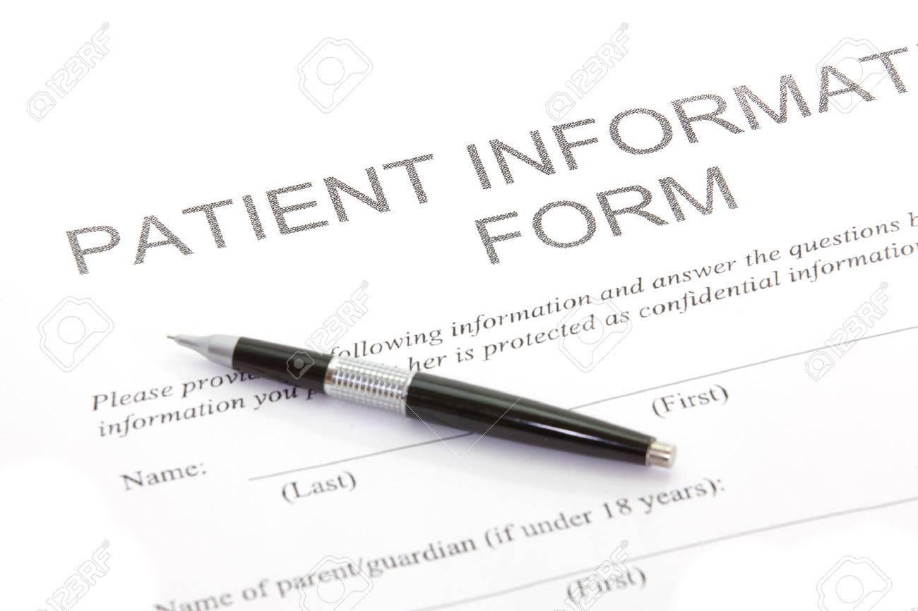 Patient Form Stock Photo - 25177298
