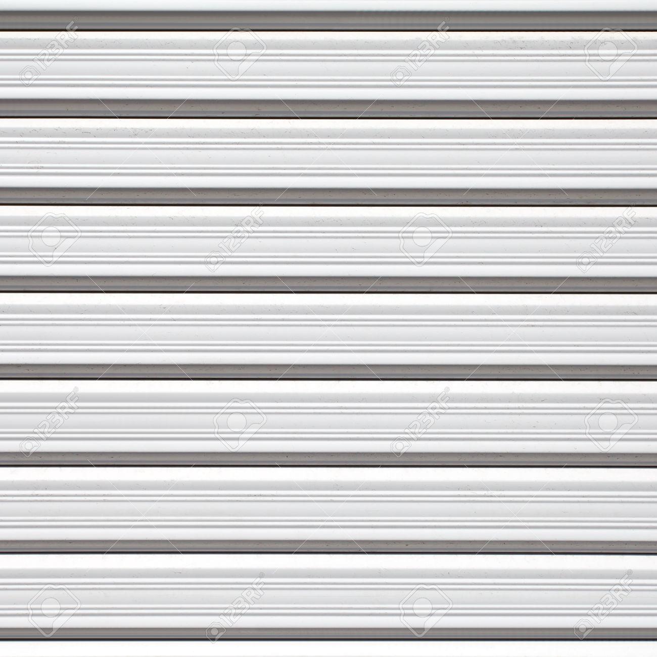 Stock Photo   Texture Of Stainless Roller Shutter Door