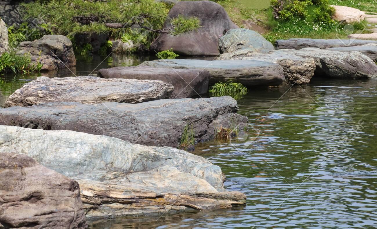 Jardin Mineral Zen Photo zen stone path in a japanese garden