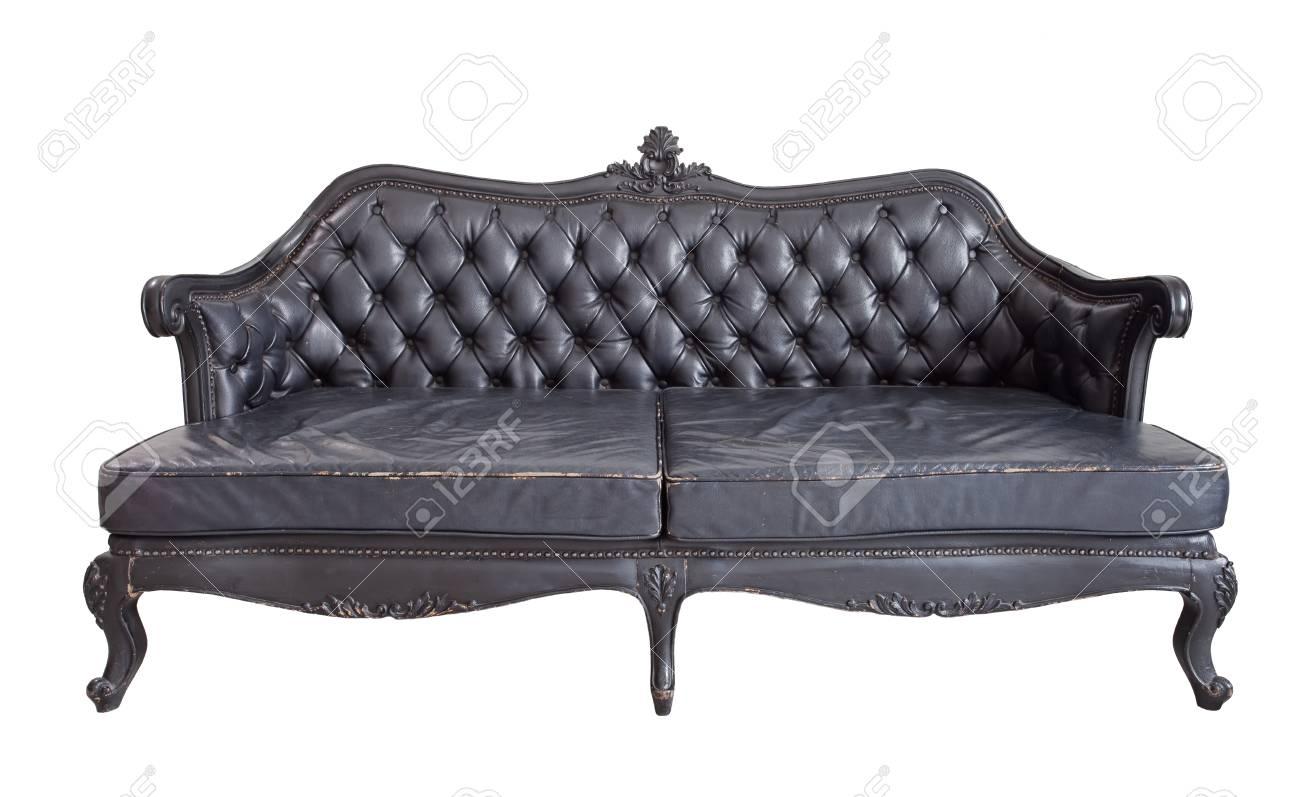 Brilliant Vintage Luxury Black Sofa Isolated On White Background Bralicious Painted Fabric Chair Ideas Braliciousco
