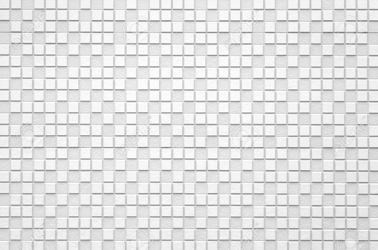 White Modern Tile Wall Background And Texture Stock Photo, Picture ...