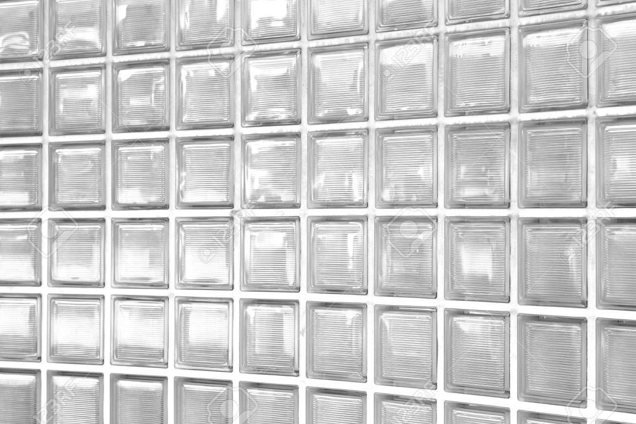 Weiße Wand Aus Glasbausteinen Textur Und Hintergrund Lizenzfreie ...