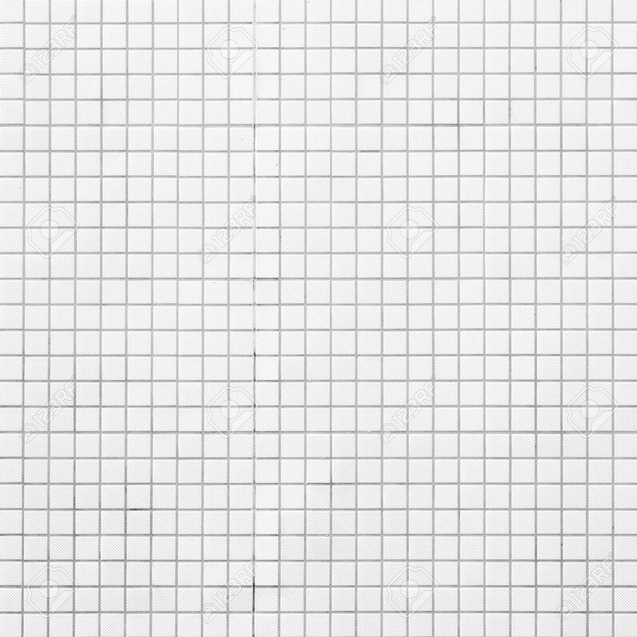 White Mosaic Tiles Abstract Background And Texture Stock Photo