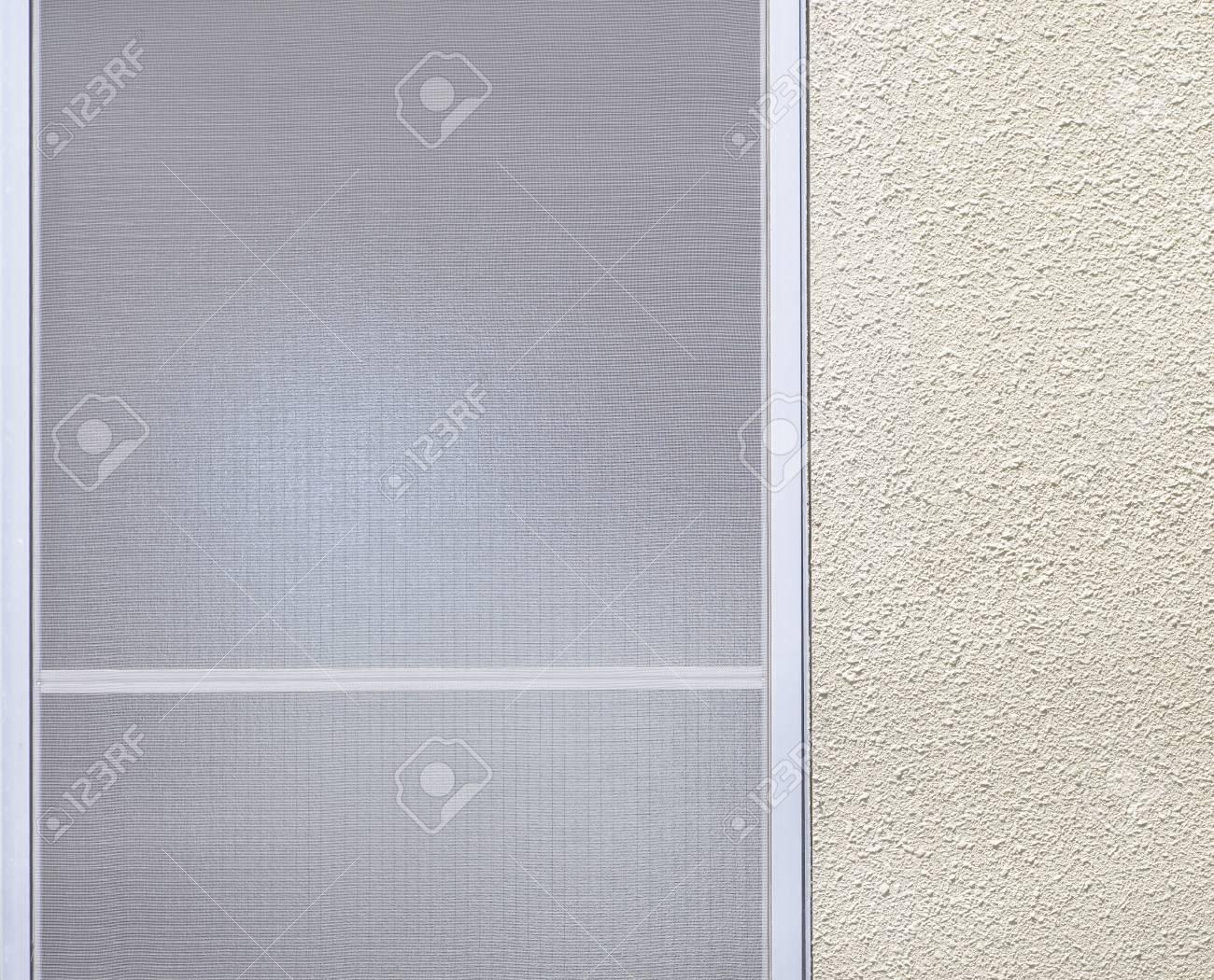 Fenêtre En Verre Dépoli Et Blanc Fond Simple Mur Banque Dimages Et