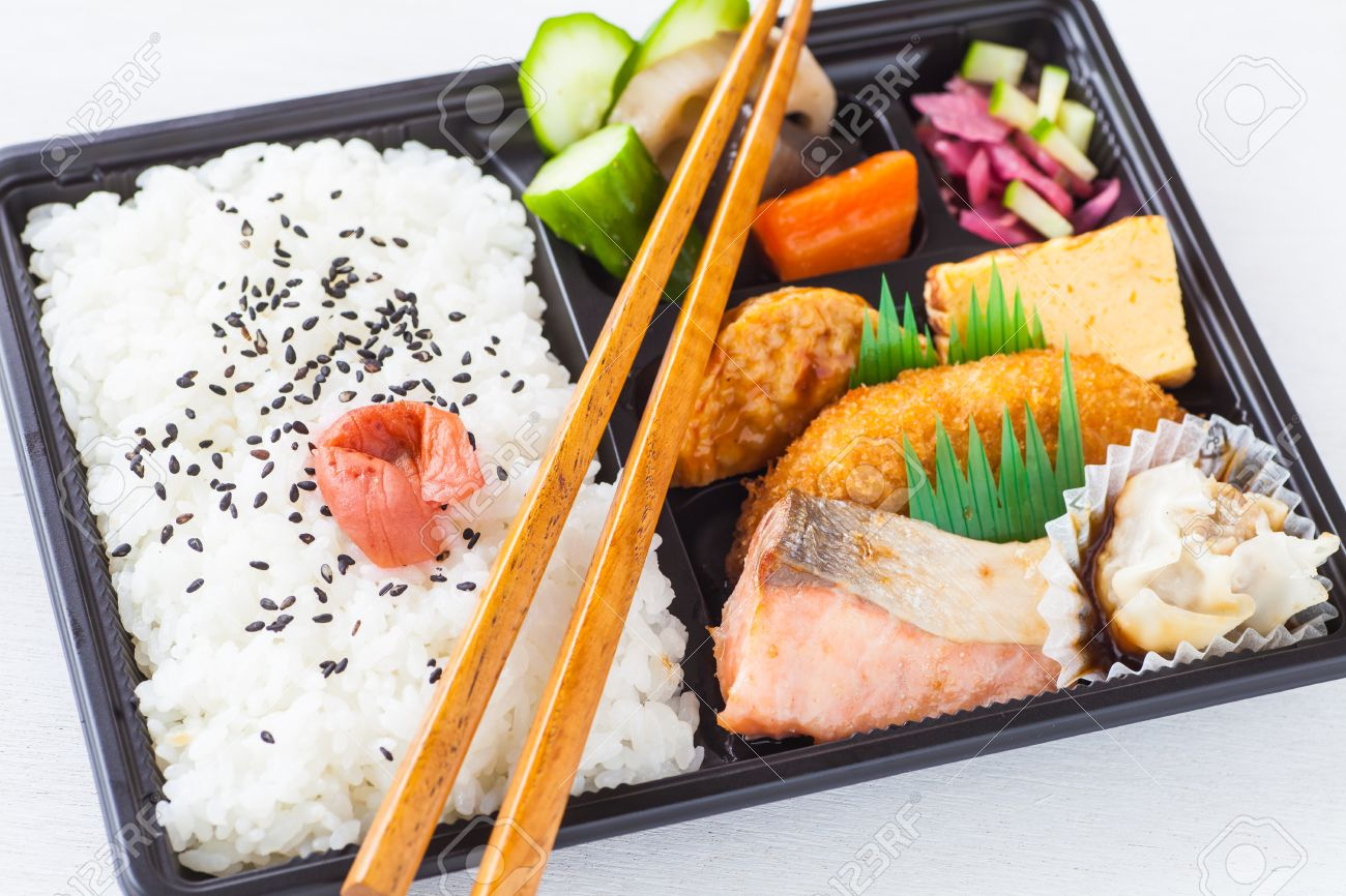 Traditional Bento Japanese Cuisine A Singleportion Takeout Or