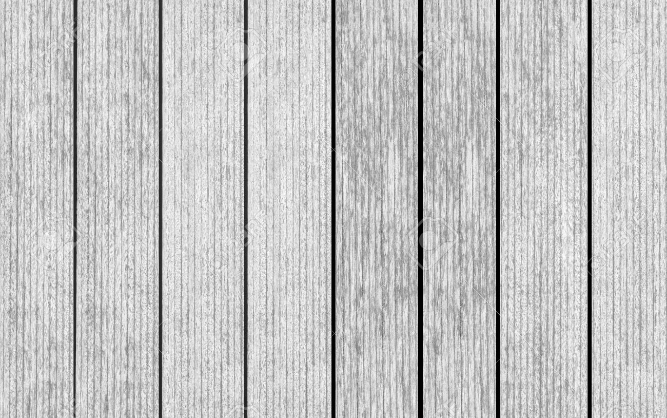 Vintage White Wood Floor Texture And Seamless Background Stock Photo
