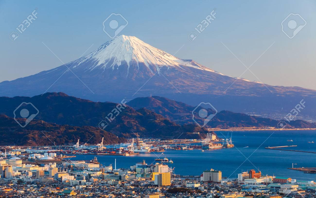 Mountain fuji and seaport at Shizuoka prefecture - 49056115