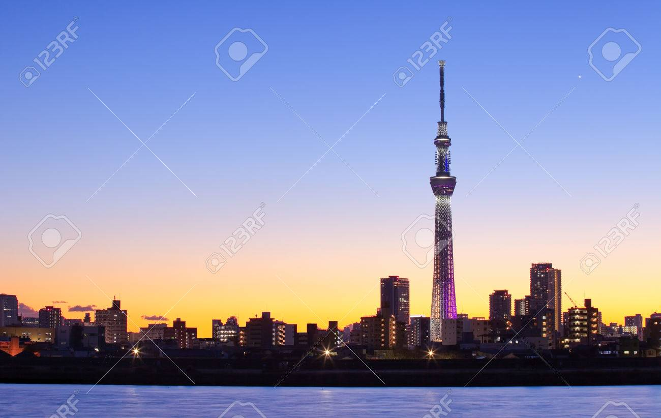Tokyo city view with Tokyo sky tree landmark - 50516893