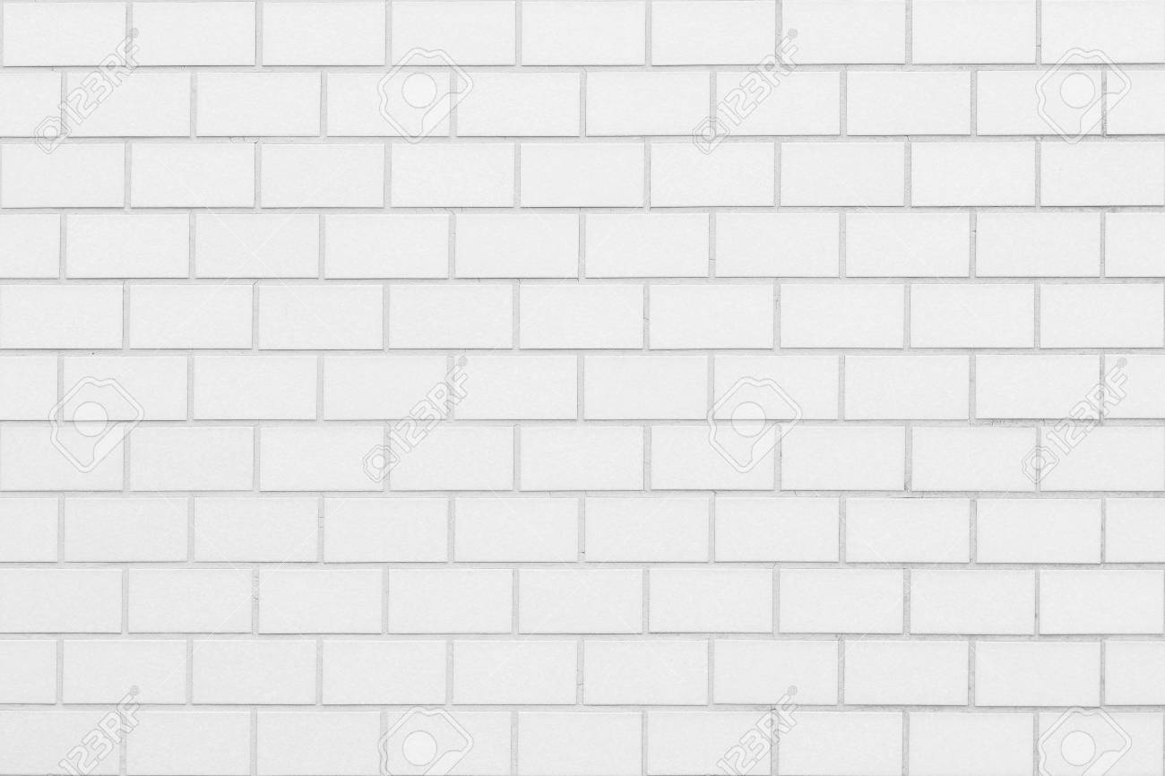 White brick wall seamless background and texture - 91791240