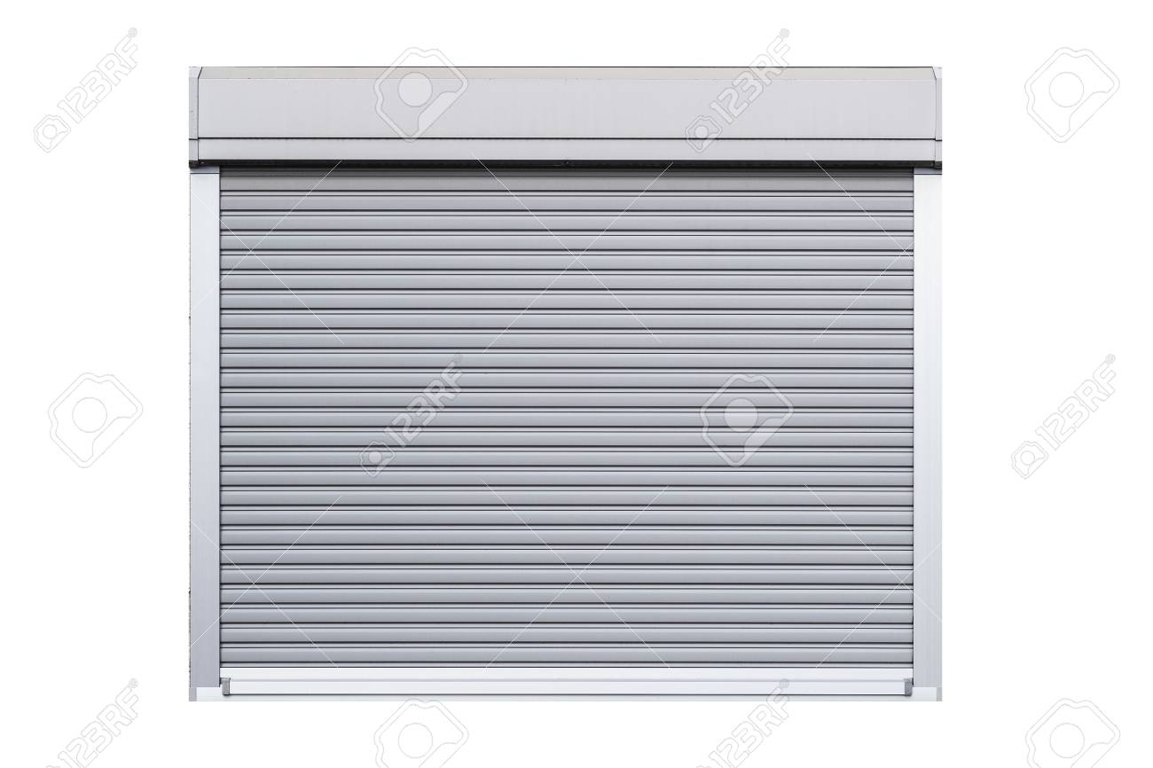 Window shutter isolated on white background - 105449622