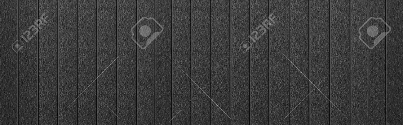 Panorama of Black Corrugated metal background and texture surface or galvanize steel - 152605687