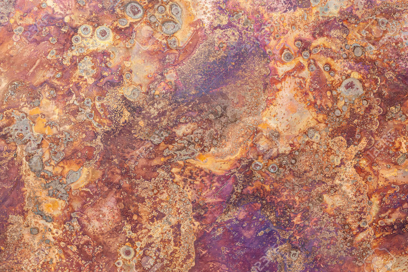 The pattern on the rusty iron plate texture and background seamless - 157163080