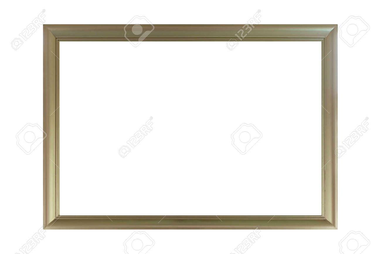 Gold wooden picture frame isolated on a white background - 169277768
