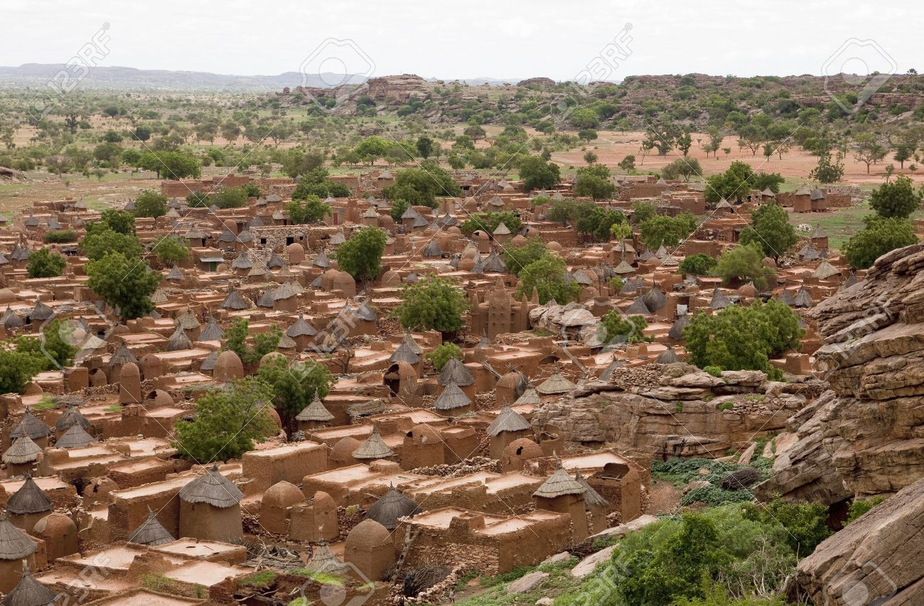 Songho Village In Dogon Country Mali Stock Photo Picture And Royalty Free Image Image 5461294