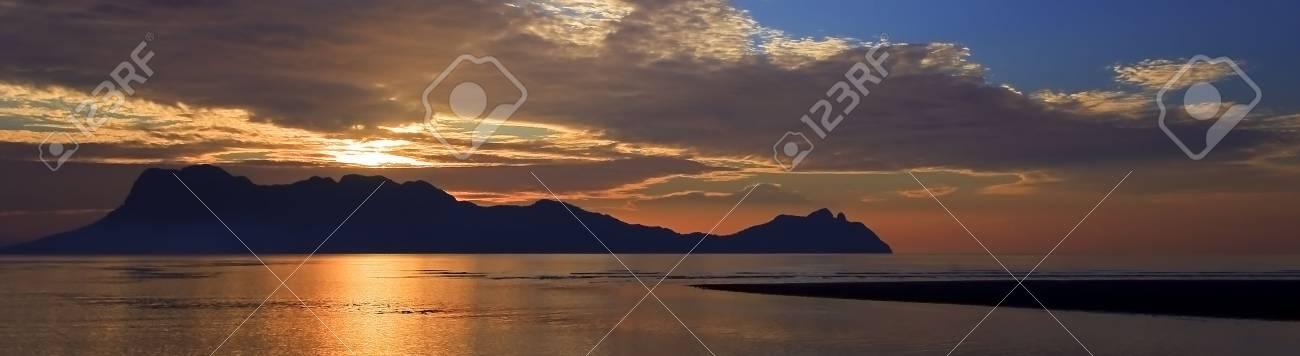 Panoramic image of sunset in Borneo Stock Photo - 5720371