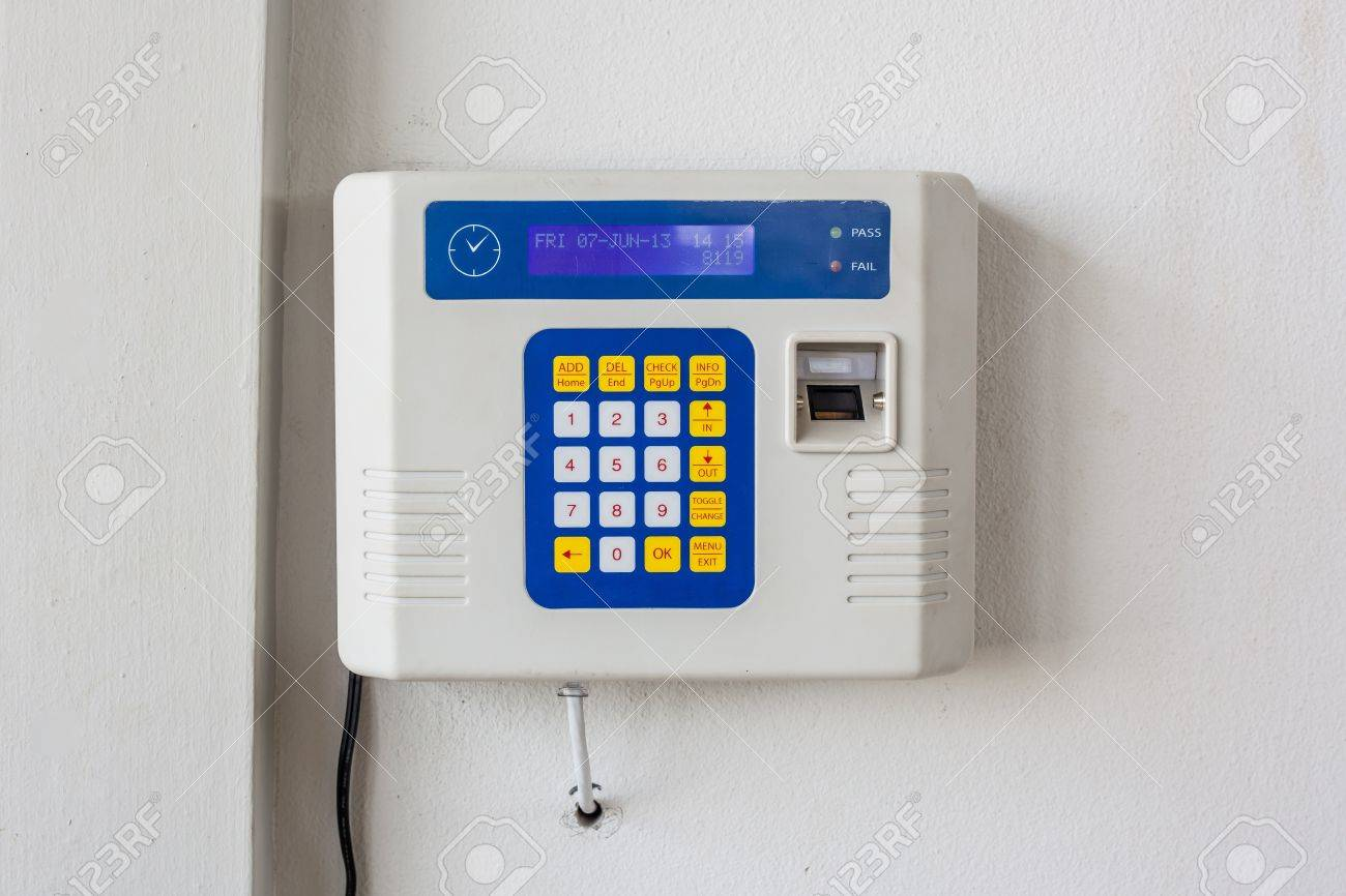 fingerprint and password lock in a office building Stock Photo - 20120132