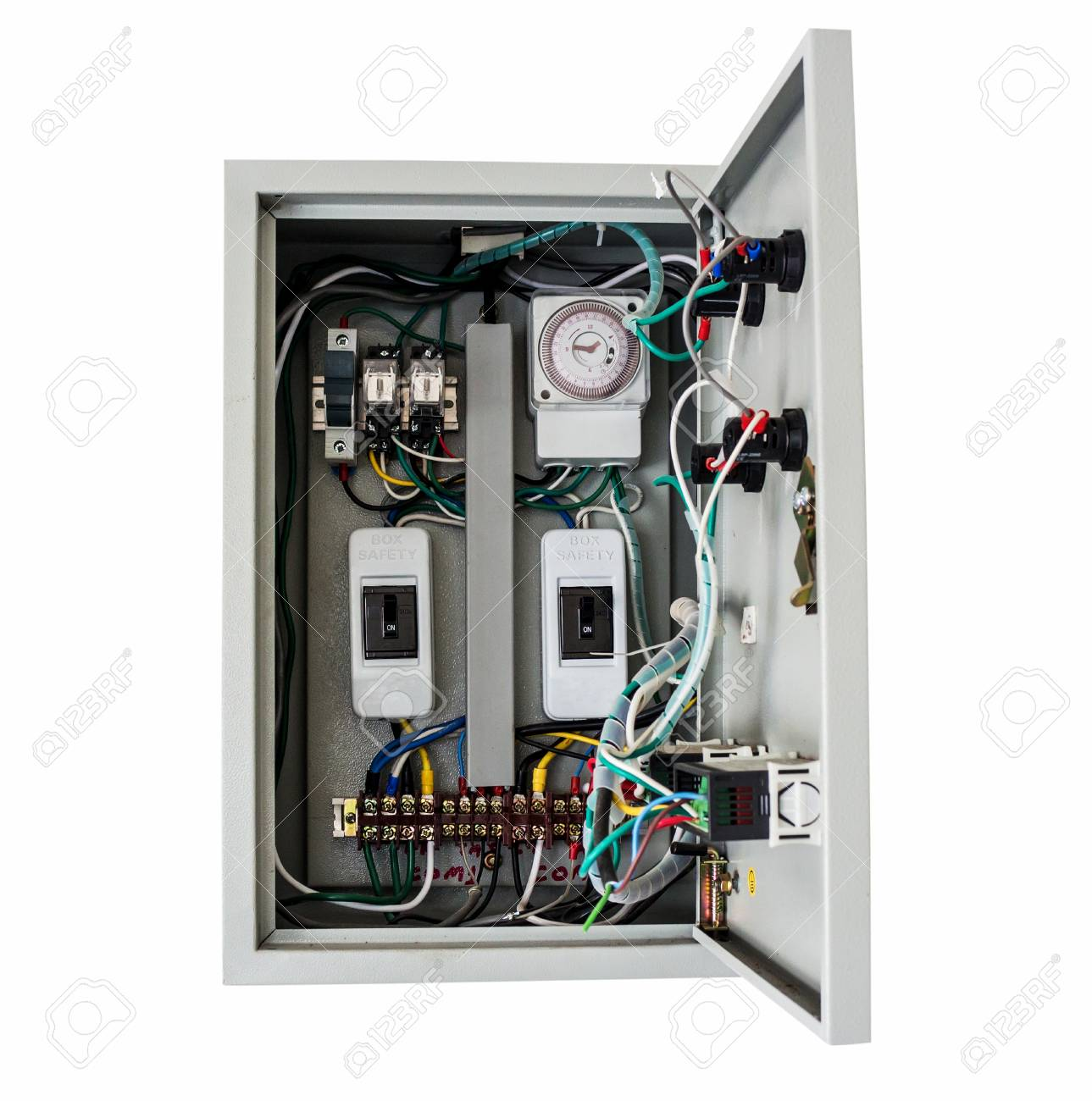 Electrical Control Box On Isolated White With Clipping Path. Stock ...
