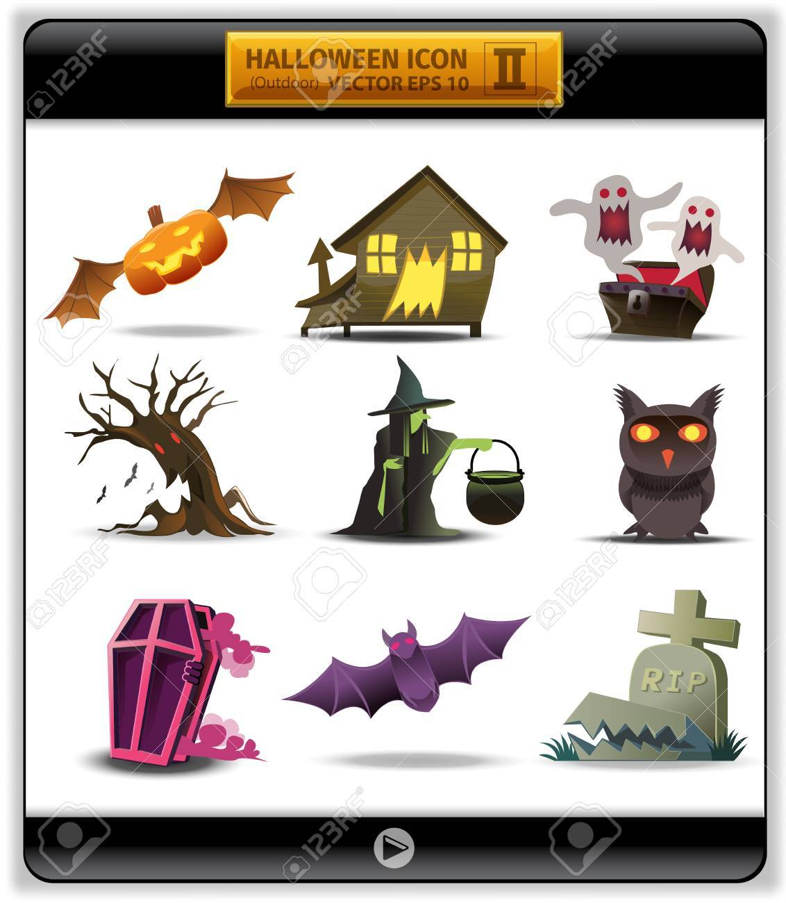 Halloween color icon 2  illustration account something outside