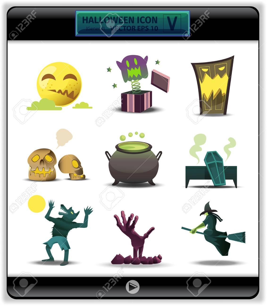 De Halloween Icono De Color 5.this Es La Colección De Colección ...