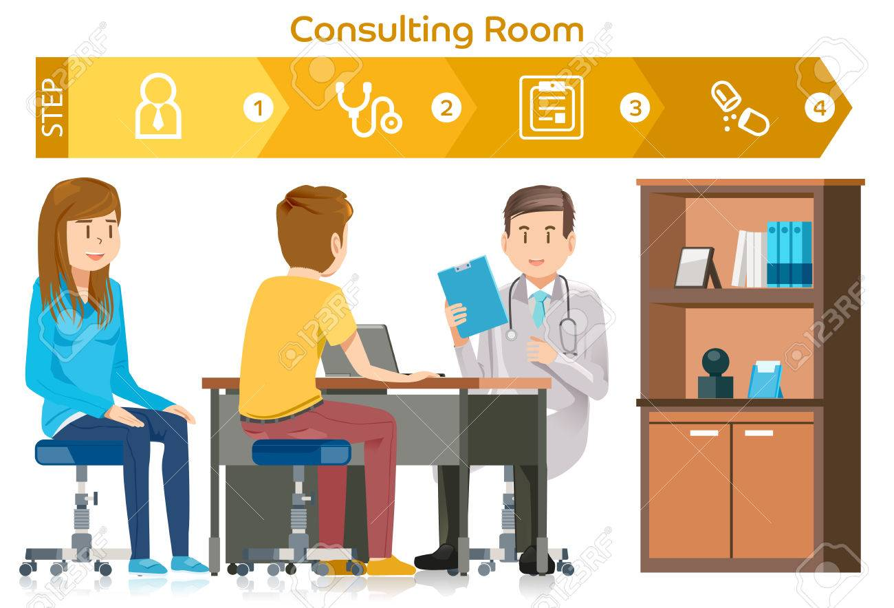 Doctor consults in the medical room
