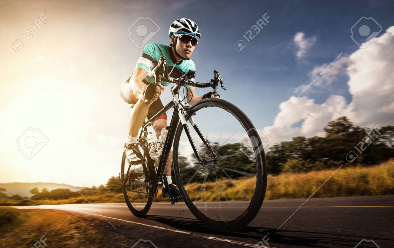 Asian men are cycling road bike in the morning - 70157000