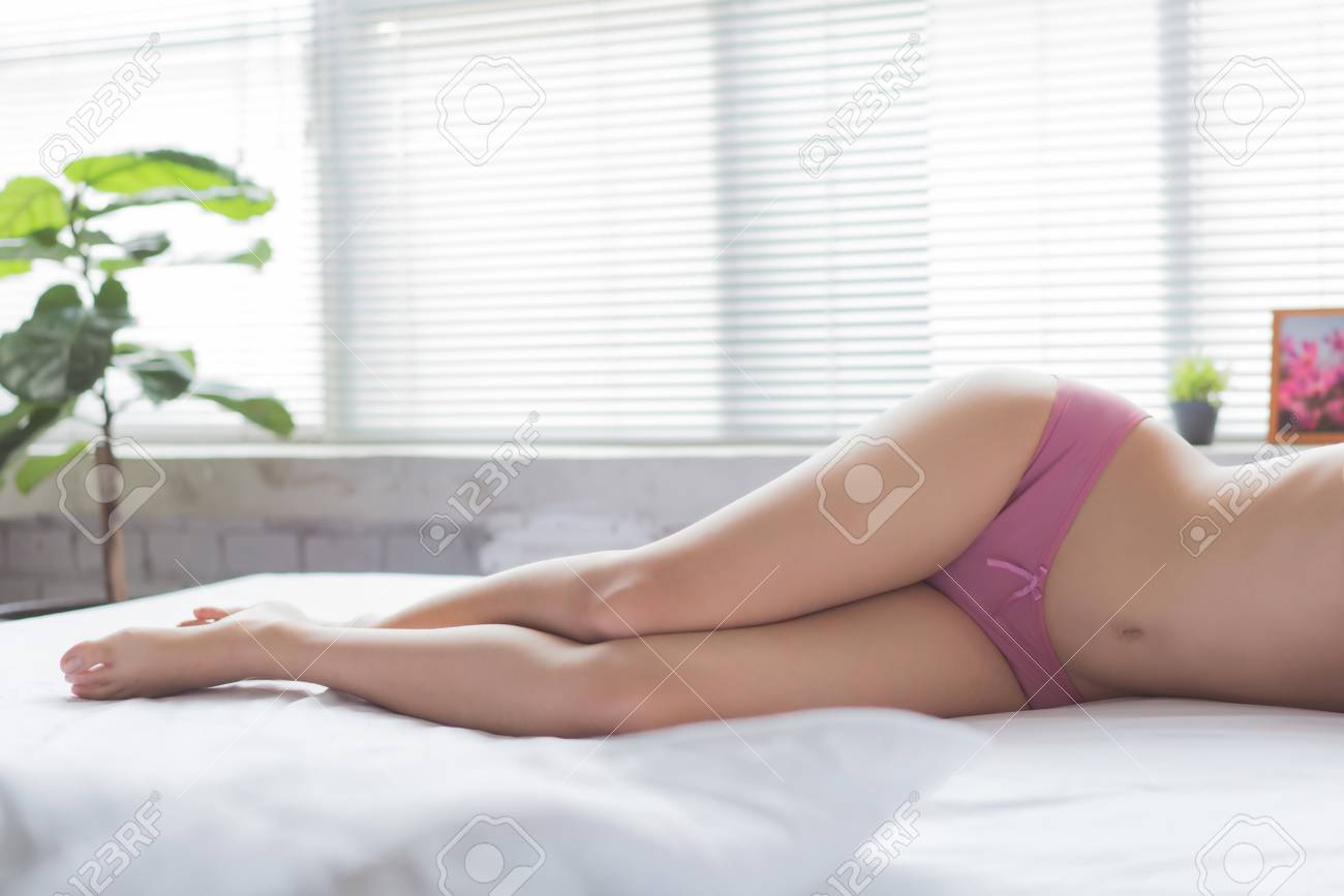 Girl In Bed With Panties Images