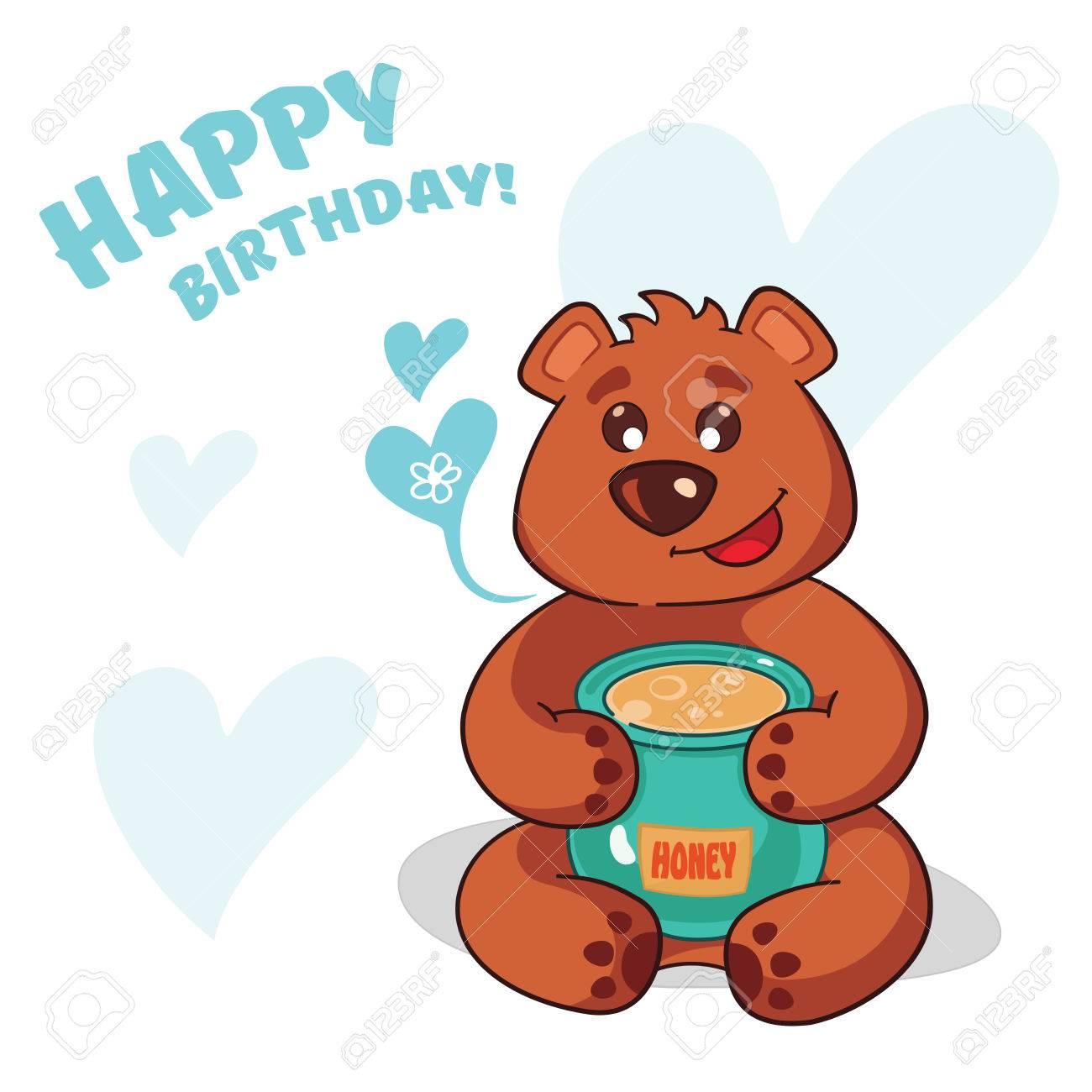 Cute Teddy Bear Who Wants To Wish You A Happy Birthday Warm