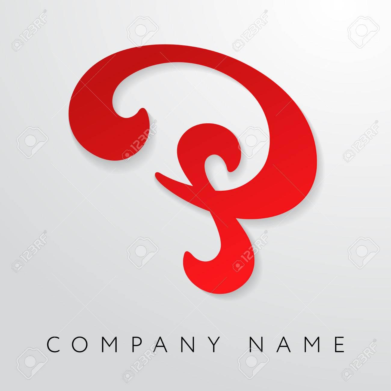Modèle De Logo Abstrait Lettre P. Lettre P Logo Pour Les Entreprises ...