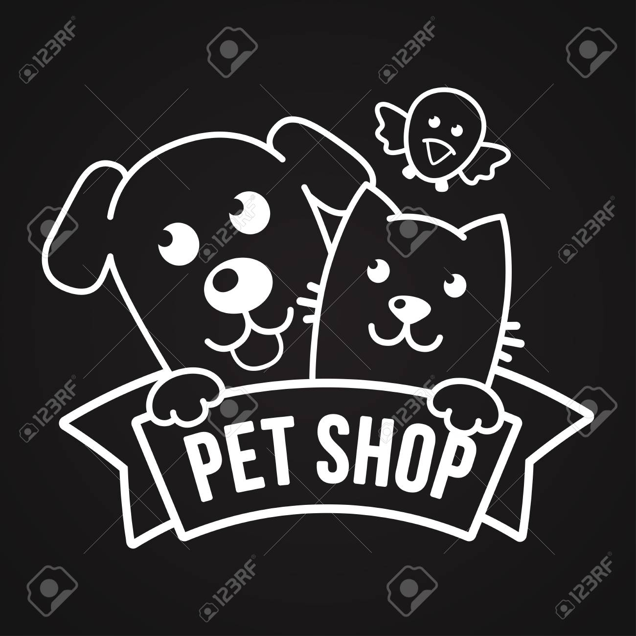Vector Logo Design Template For Pet Shops Veterinary Clinics