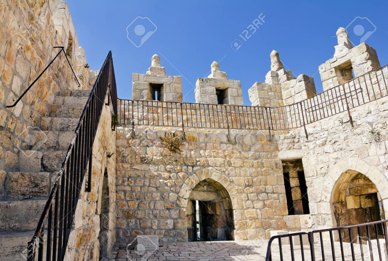 View from the walls of ancient Jerusalem Stock Photo - 17544118
