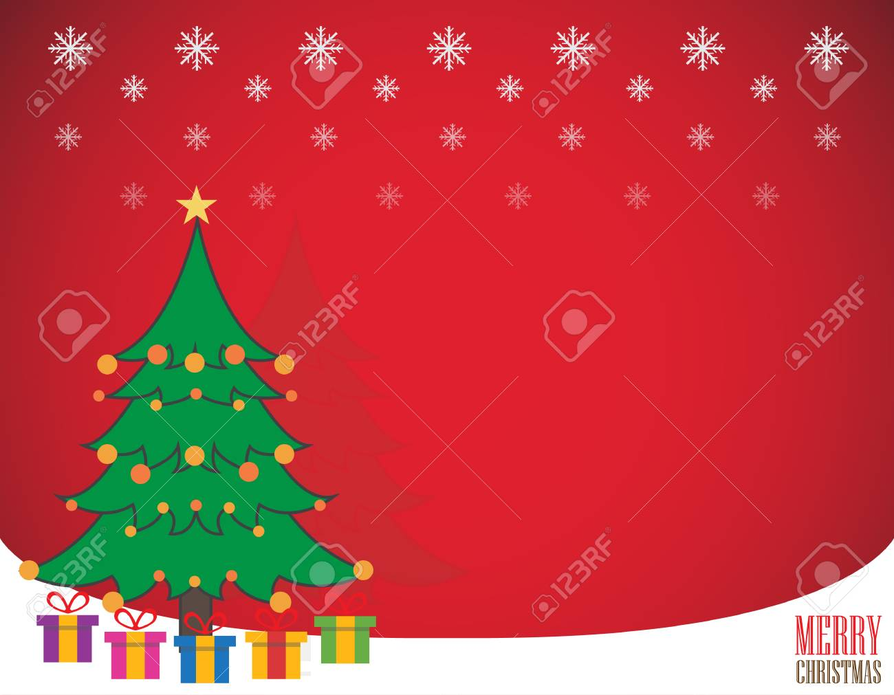 Merry Christmas Greeting Card Template Background Royalty Free