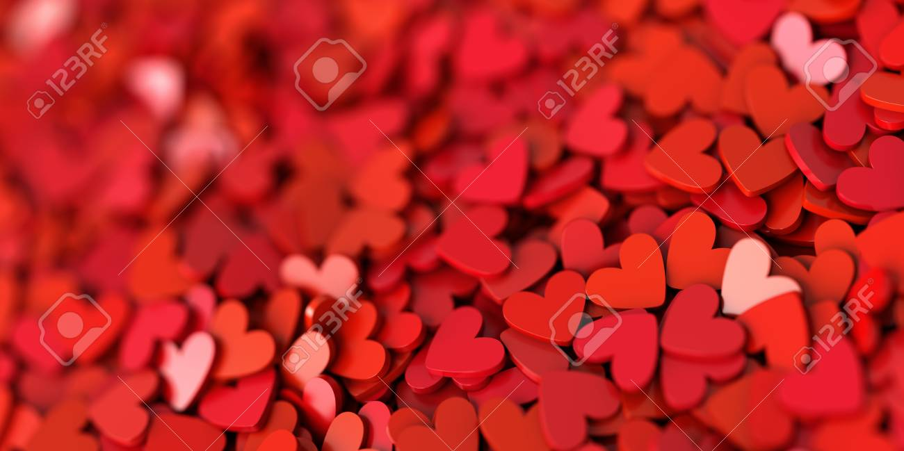 Infinite Hearts Background Love Passion And Valentine Day Theme