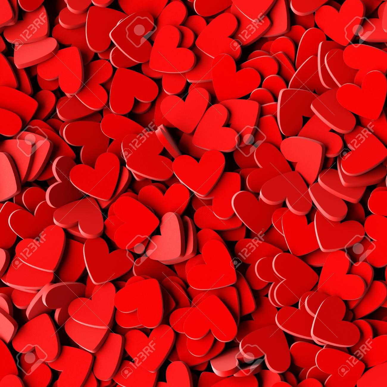 Fondo De Corazones Infinitos Amor Pasión Y Tema De San Valentín