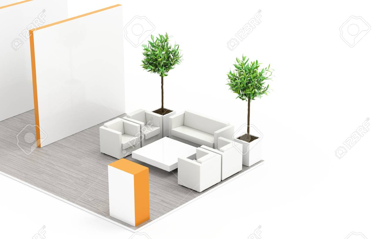 Exhibition Booth Floor Plan : Exhibition booth blank template original d rendering and models