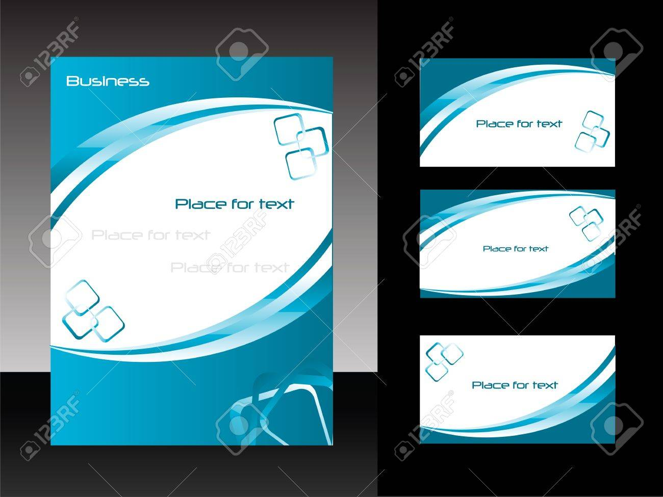 template for business design  folder and set of  business card Stock Vector - 13175665