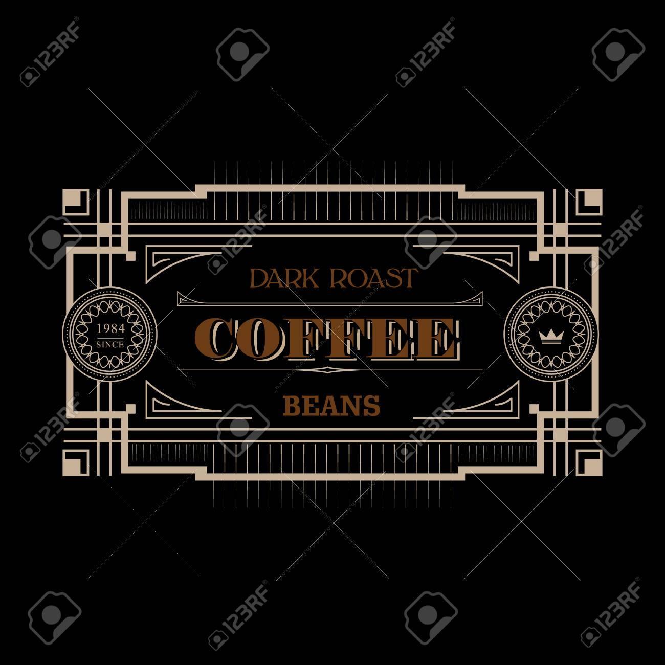 Vintage Victorian Western Frame Border Coffee Label Decorative ...
