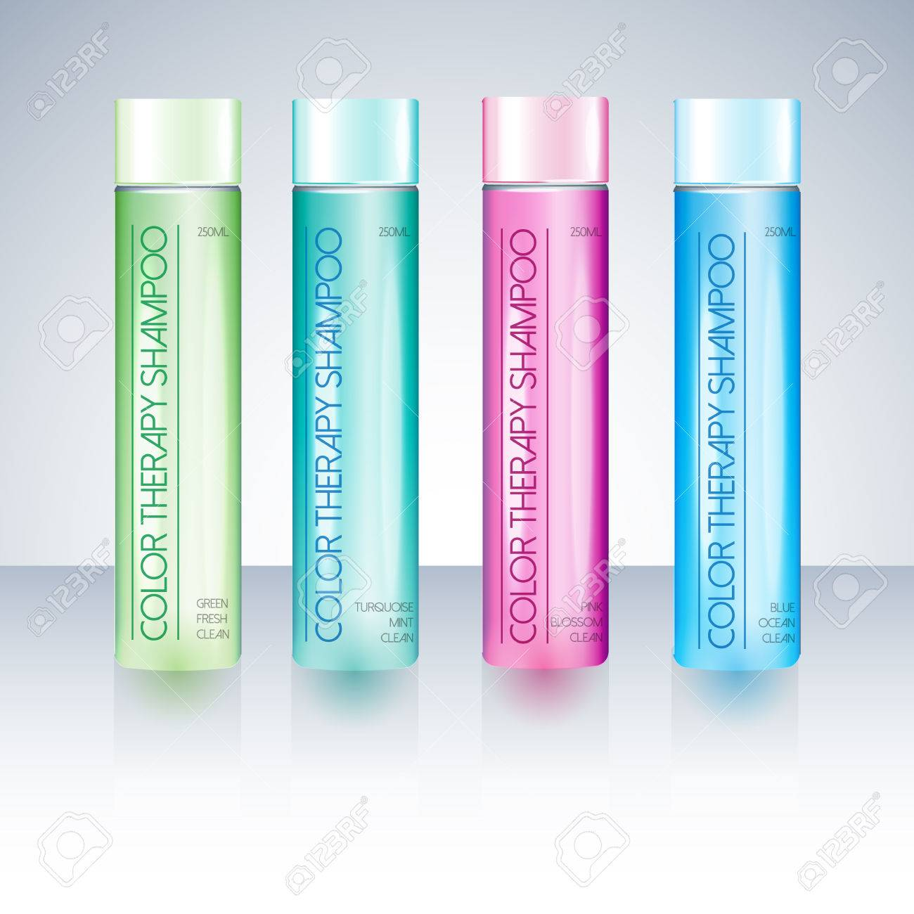 Beauty Cosmetic Packaging Design Templates Body Care Shampoo.. Stock ...