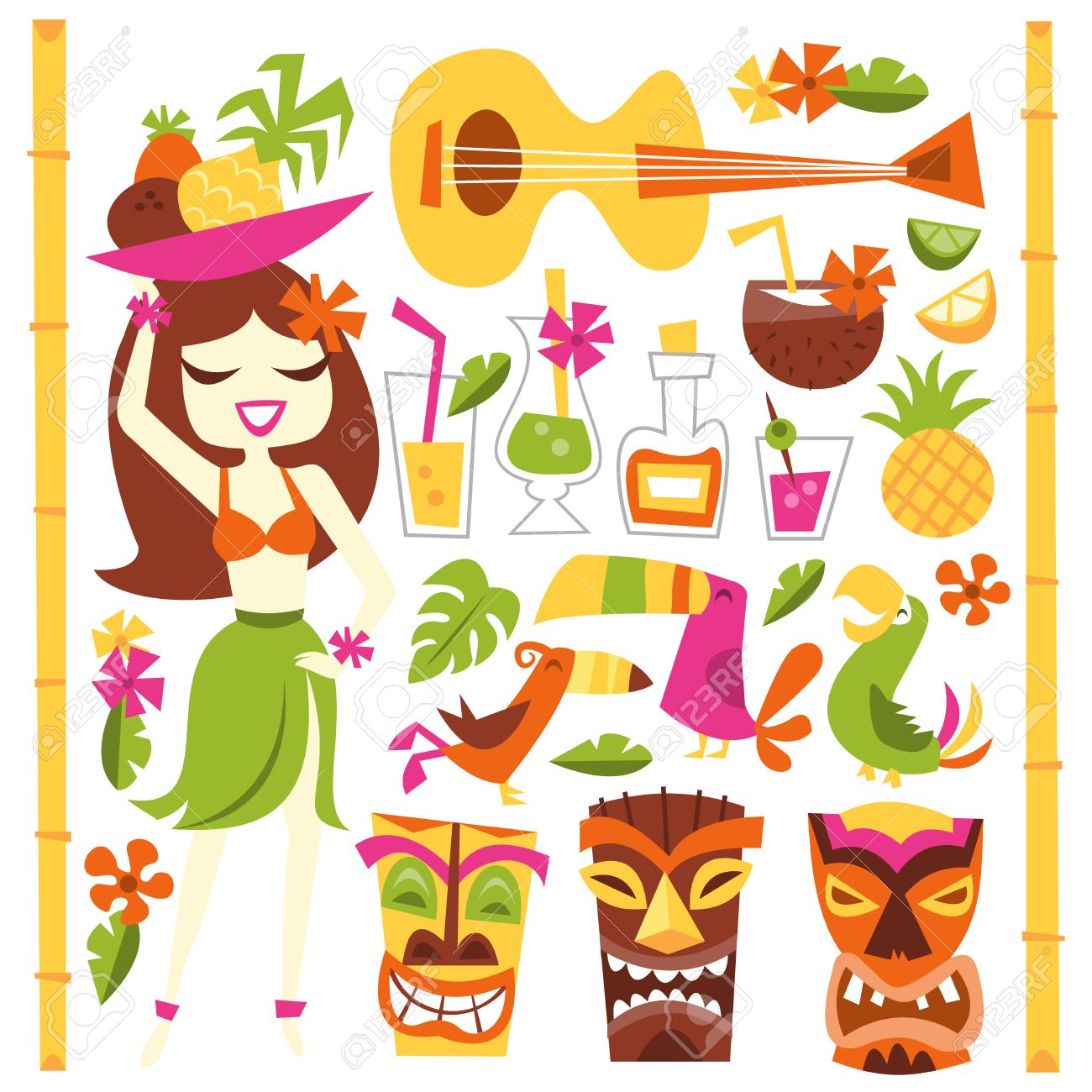 1,134 Luau Stock Vector Illustration And Royalty Free Luau Clipart