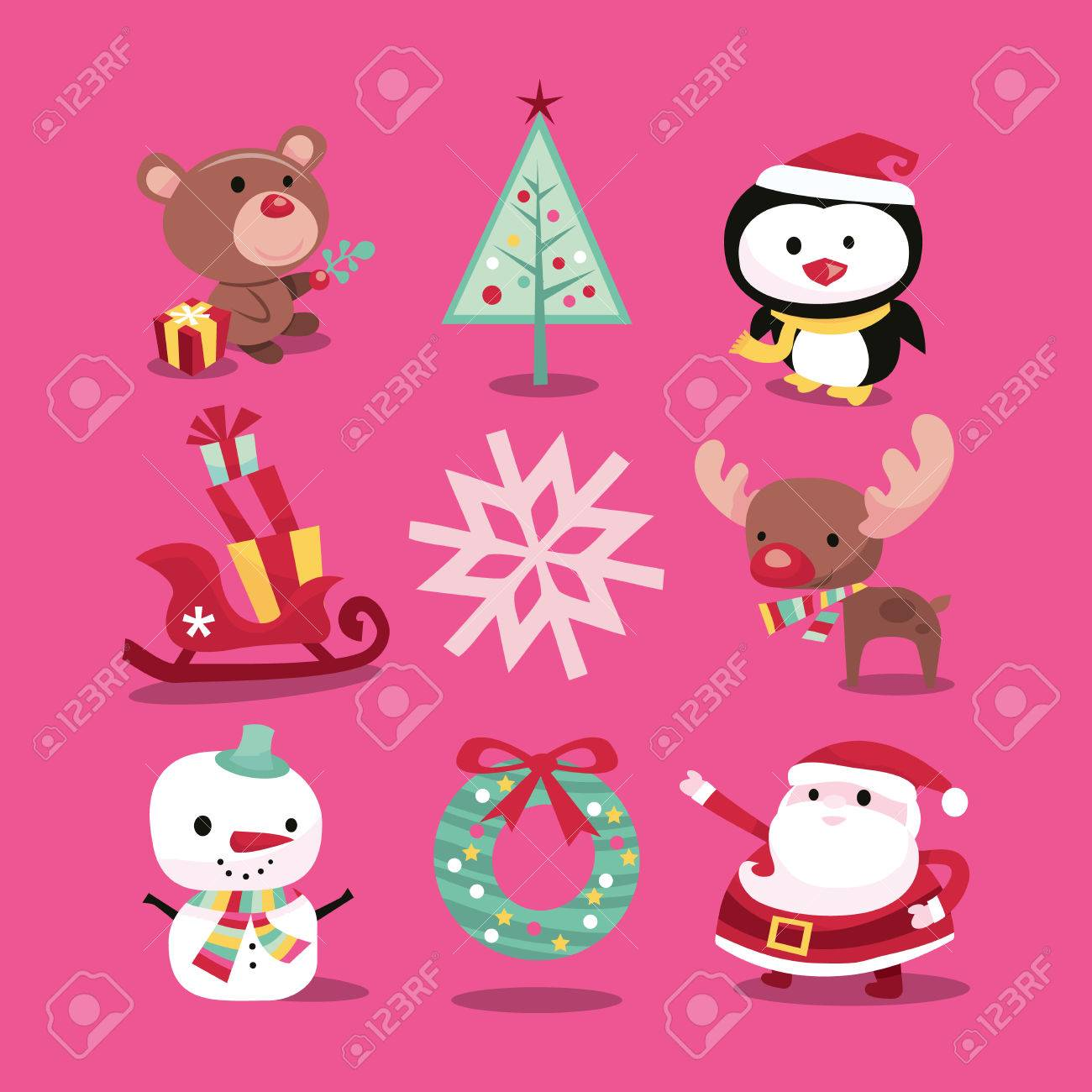 A vector illustration of modern whimsical christmas icons like a vector illustration of modern whimsical christmas icons like christmas symbols and characters included in buycottarizona Image collections