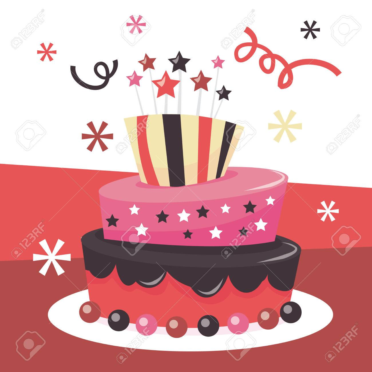 Astonishing A Vector Illustration Of A Cute Whimsical Tier Mad Hatter Fondant Funny Birthday Cards Online Alyptdamsfinfo