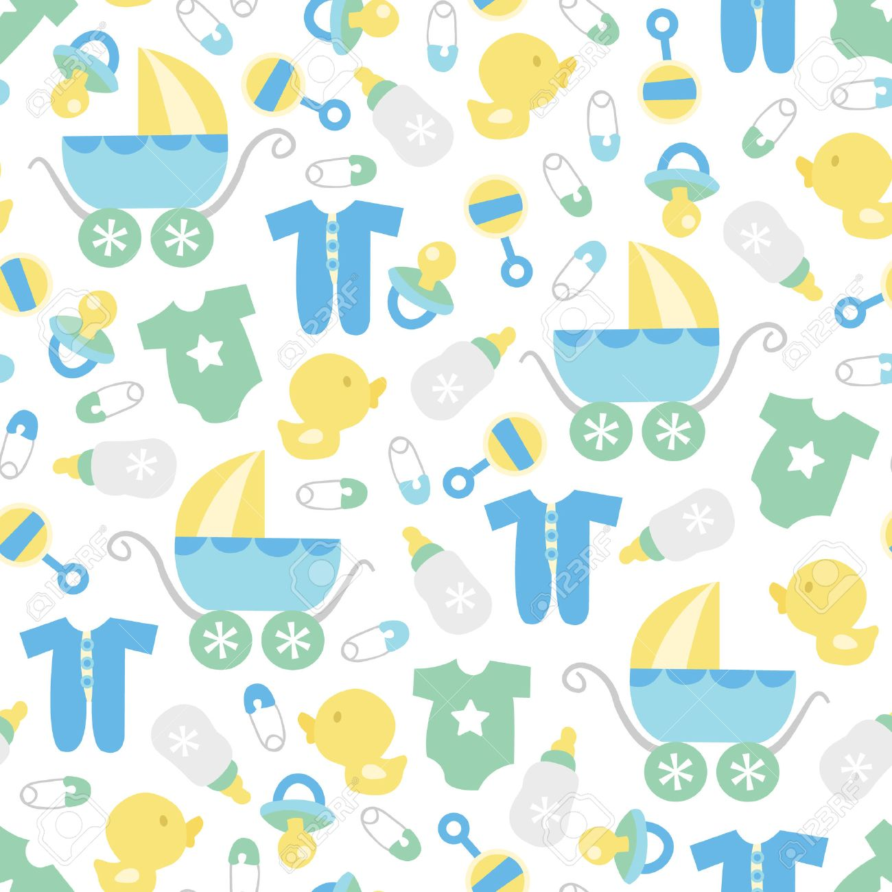 Baby boy background wallpaper baby boy background images baby boy - A Vector Illustration Of A Cute Retro Baby Boy Theme Seamless Pattern Background Stock Vector