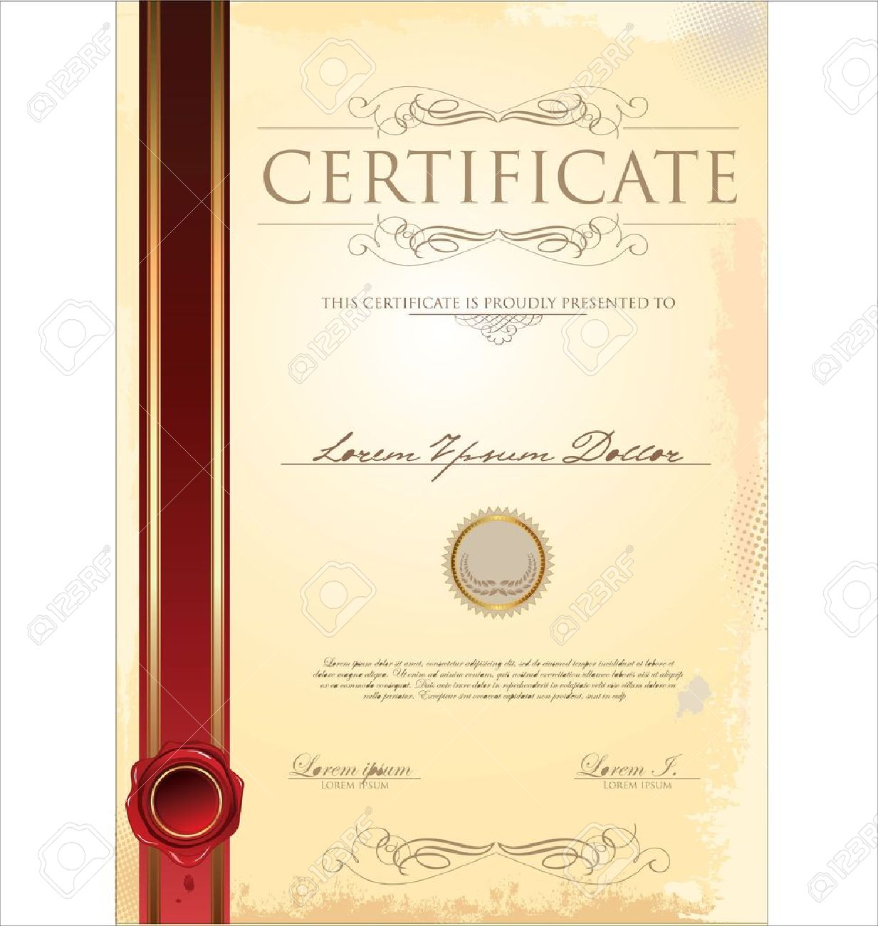 Certificate template royalty free cliparts vectors and stock certificate template stock vector 19083478 xflitez Gallery